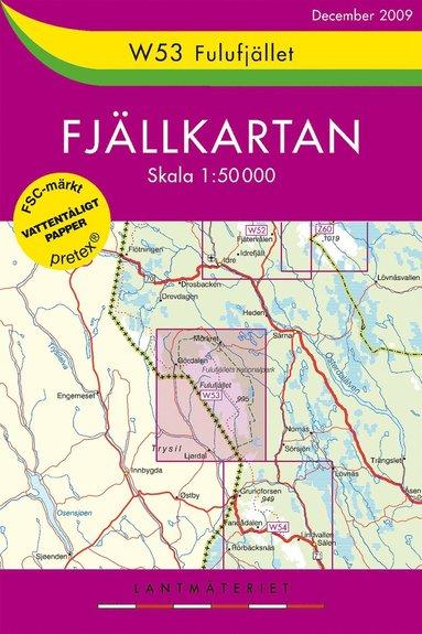 bokomslag W53 Fulufjället Fjällkartan - 1:50000