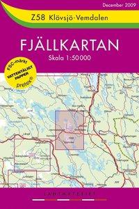 Z58 Klövsjö - Vemdalen Fjällkartan - 1:50000
