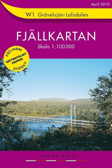 bokomslag W1 Grövelsjön Lofsdalen - Fjällkarta