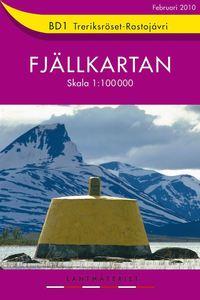 bokomslag BD1 Treriksröset-Rostojávri 1:100000 - Fjällkarta