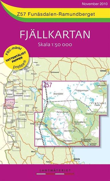 bokomslag Z57 Funäsdalen-Ramundberget Fjällkartan : 1:50000