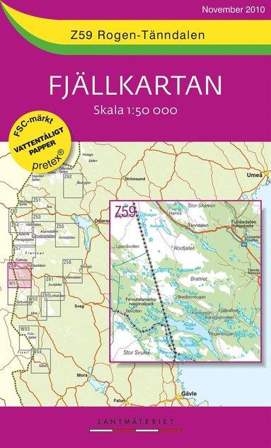 bokomslag Z59 Rogen-Tänndalen Fjällkartan : 1:50000