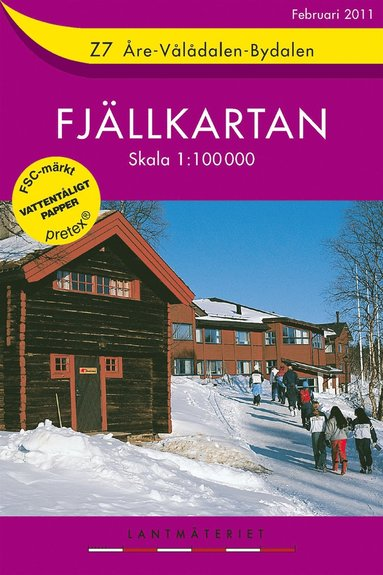 bokomslag Z7 Åre-Vålådalen-Bydalen Fjällkartan : 1:100000