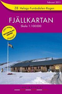 Z8 Helags-Funäsdalen-Rogen Fjällkartan : 1:100000