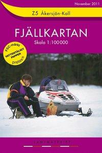 Z5 Åkersjön-Kall Fjällkartan : 1:100000