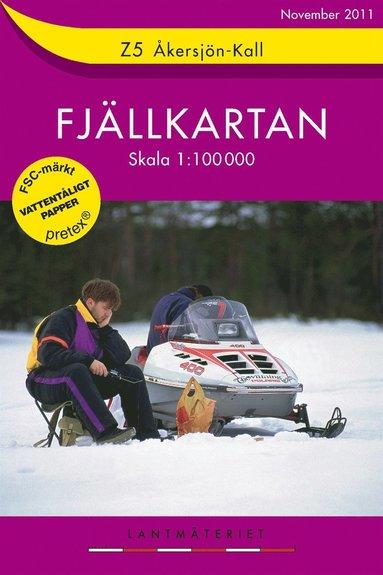 bokomslag Z5 Åkersjön-Kall Fjällkartan : 1:100000