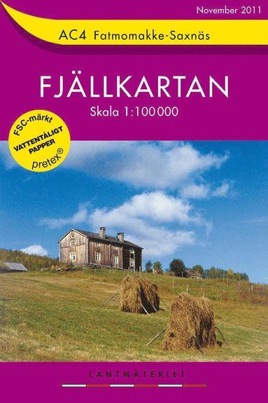 bokomslag AC4 Fatmomakke-Saxnäs Fjällkartan : 1:100000