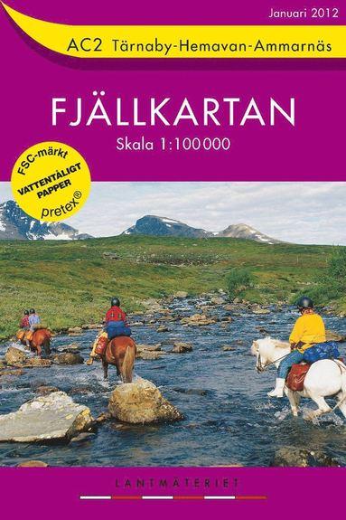 bokomslag AC2 Tärnaby-Hemavan-Ammarnäs Fjällkartan : 1:100000