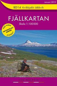 BD14 Kvikkjokk-Jäkkvik Fjällkartan : 1:100000