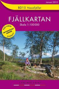BD15 Nasafjället Fjällkartan : 1:100000
