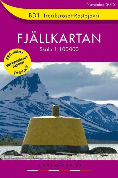 bokomslag BD1 Treriksröset-Rostojávri Fjällkartan : 1:100000