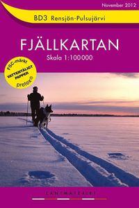 BD3 Rensjön-Pulsujärvi Fjällkartan : 1:100000