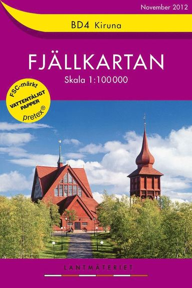 bokomslag BD4 Kiruna Fjällkartan : 1:100000