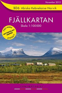 BD6 Abisko-Kebnekaise-Narvik Fjällkartan : 1:100000