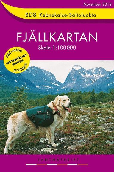 bokomslag BD8 Kebnekaise-Saltoluokta Fjällkartan : 1:100000