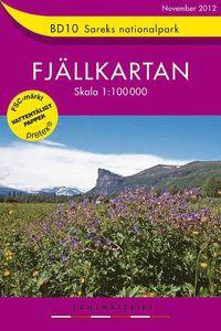 bokomslag BD10 Sareks Nationalpark Fjällkartan : 1:100000