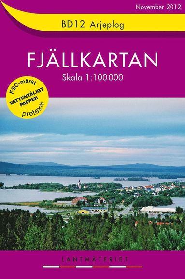 bokomslag BD12 Arjeplog Fjällkartan : 1:100000