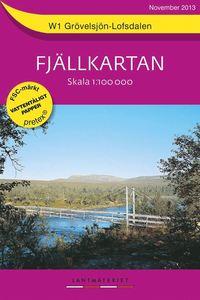 W1 Grövelsjön Lofsdalen Fjällkartan : 1:100000