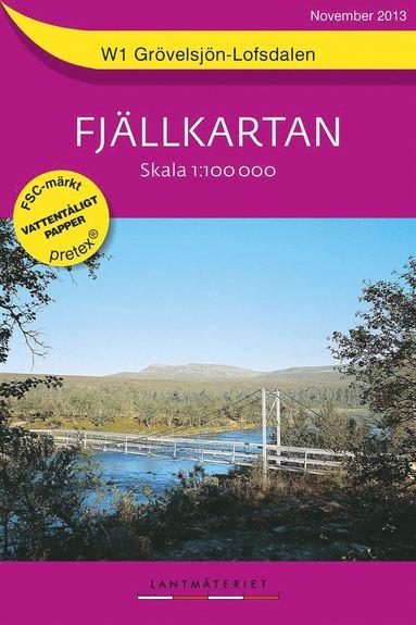 bokomslag W1 Grövelsjön Lofsdalen Fjällkartan : 1:100000