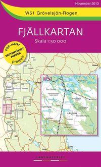 W51 Grövelsjön-Rogen Fjällkartan : 1:50000