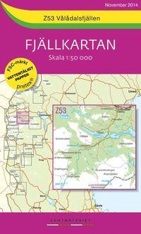 bokomslag Z53 Vålådalsfjällen Fjällkartan : 1:50000