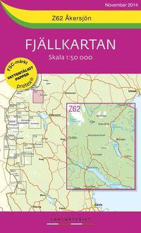 Z62 Åkersjön Fjällkartan : 1:50000