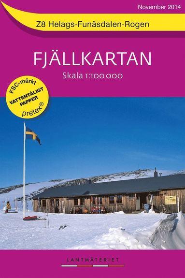 bokomslag Z8 Helags-Funäsdalen-Rogen Fjällkartan : 1:100000