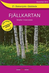 bokomslag Z1 Stekenjokk-Gäddede Fjällkartan : 1:100000