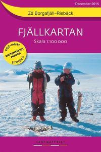bokomslag Z2 Borgafjäll-Risbäck Fjällkartan : 1:100000