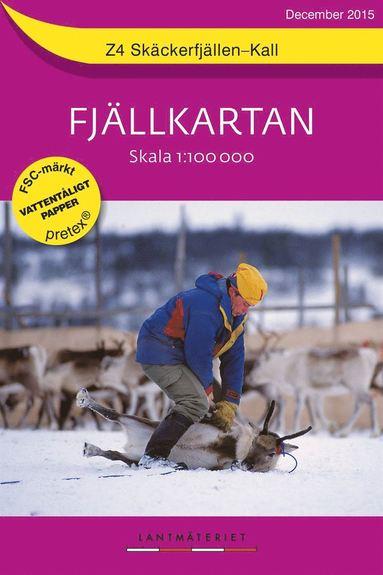 bokomslag Z4 Skäckerfjällen-Kall Fjällkartan : 1:100000