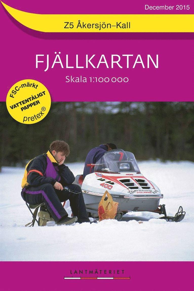Z5 Åkersjön-Kall Fjällkartan : 1:100000 1