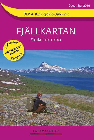 bokomslag BD14 Kvikkjokk-Jäkkvik Fjällkartan : 1:100000