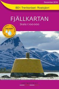 bokomslag BD1 Treriksröset-Rostojávri Fjällkartan : Skala 1:100000