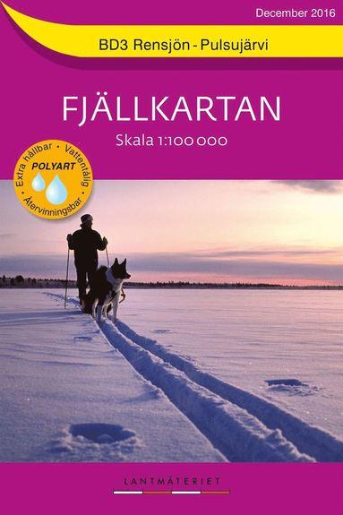 bokomslag BD3 Rensjön-Pulsujärvi Fjällkartan : 1:100000