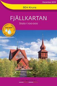 bokomslag BD4 Kiruna Fjällkartan : Skala 1:100000