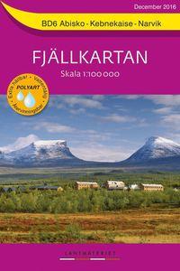 bokomslag BD6 Abisko-Kebnekaise-Narvik Fjällkartan : Skala 1:100000