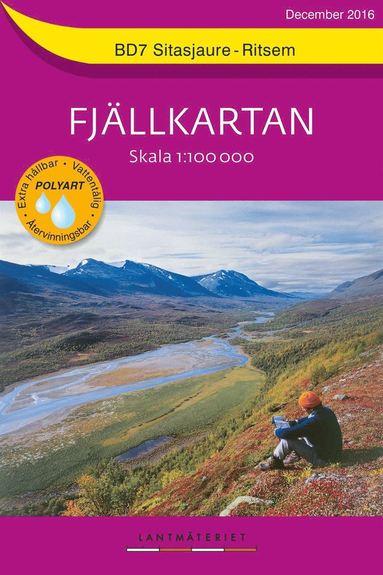 bokomslag BD7 Sitasjaure-Ritsem Fjällkartan : Skala 1:100000