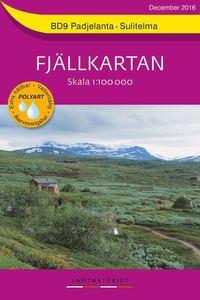 bokomslag BD9 Padjelanta-Sulitelma Fjällkartan : Skala 1:100000