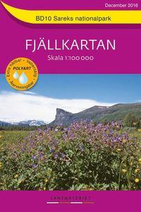 bokomslag BD10 Sareks Nationalpark Fjällkartan : Skala 1:100000