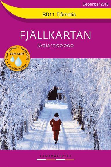 bokomslag BD11 Tjåmotis Fjällkartan : Skala 1:100000