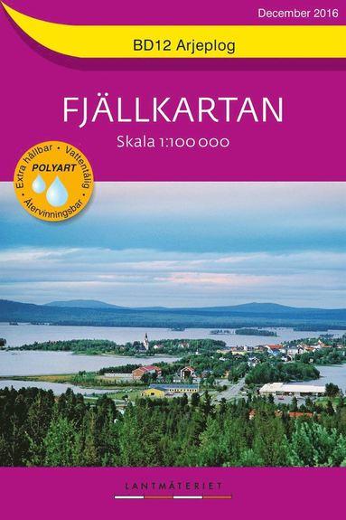 bokomslag BD12 Arjeplog Fjällkartan : Skala 1:100000