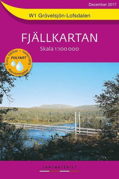 bokomslag W1 Grövelsjön Lofsdalen Fjällkartan : Skala 1:100 000