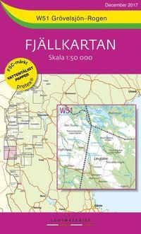bokomslag W51 Grövelsjön-Rogen Fjällkartan : Skala 1:50 000