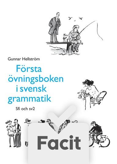 bokomslag Första övningsboken i svensk grammatik Elevfacit