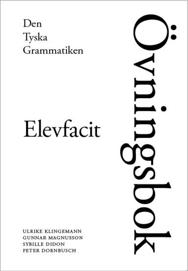 bokomslag  Den tyska grammatiken Elevfacit