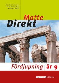 bokomslag Matte direkt : år 9. Fördjupning