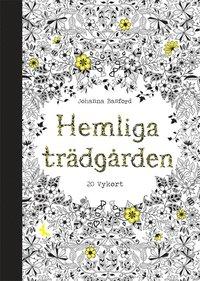 bokomslag Hemliga Trädgården - 20 vykort att färglägga