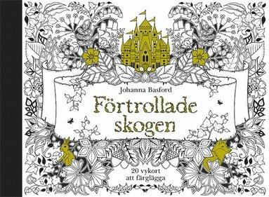 bokomslag Förtrollade skogen - 20 vykort att färglägga