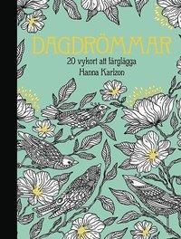 bokomslag Dagdrömmar - 20 vykort att färglägga