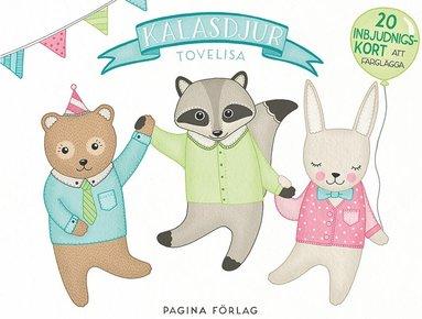 bokomslag Kalasdjur - 20 inbjudningskort att färglägga